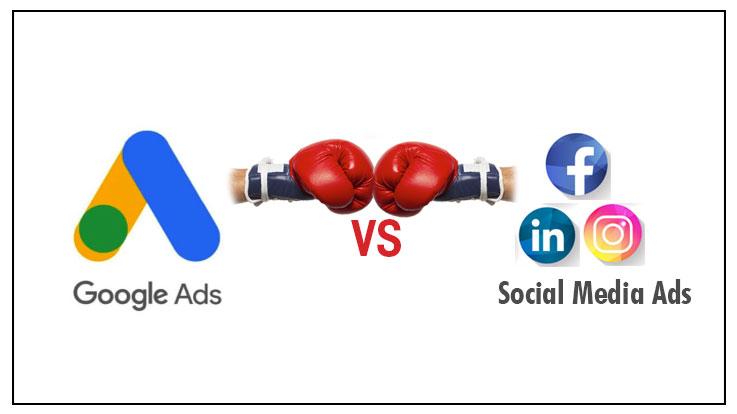 google ads vs social media ads