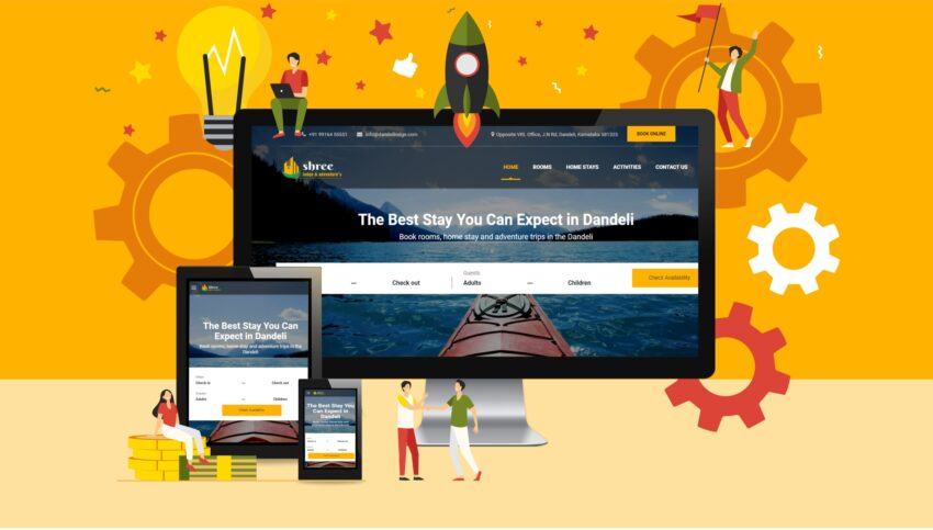 Website for Lodge in Dandeli
